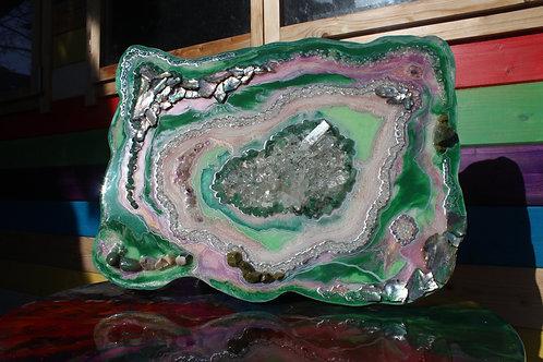 Mint Green Geode