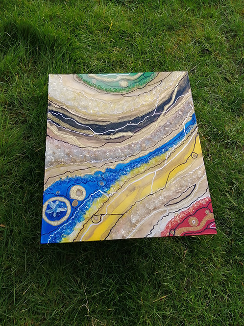 Primary Colours Geode Wall Art