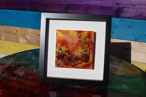 Red Jasper and Yellow Glass Mini-Geode