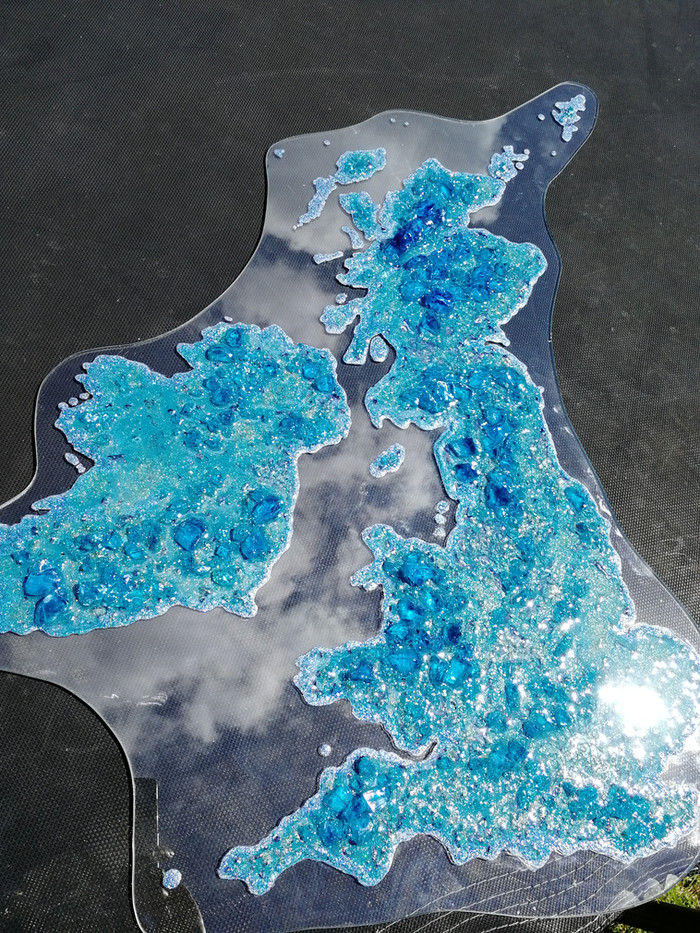 Relief map of UK