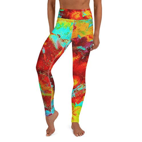 Rainbow Red Yoga Leggings