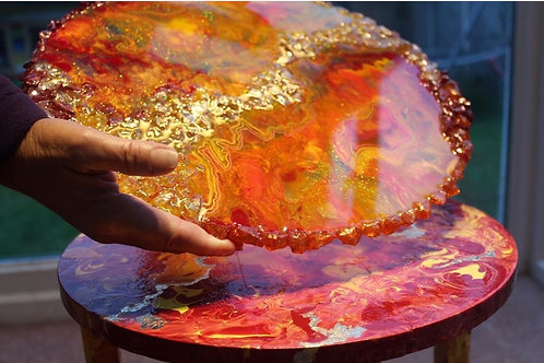 Lava Geode Table