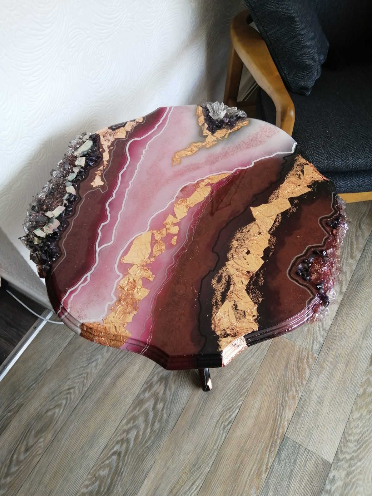 Fade to Grey Geode Table