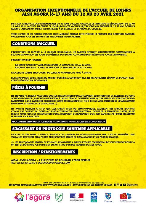 COVID Organisation Exeptionnelle ALSH co