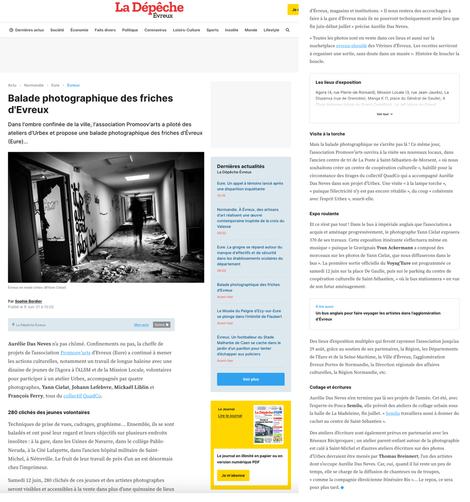 Article Exposition URBEX - La Depeche.pn