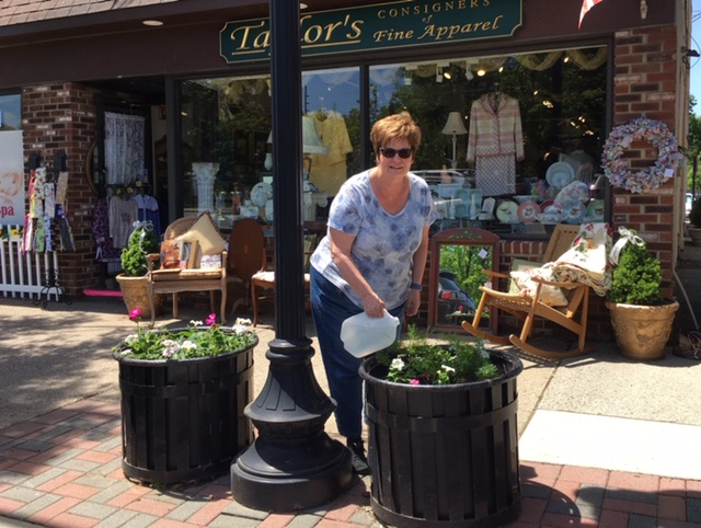 Christine watering (2)