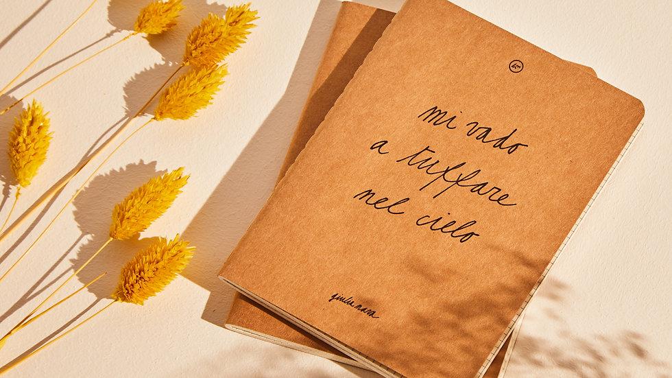 Quadernetto con frase