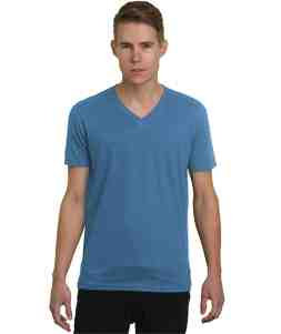 V-Neck-Heather Royal Blue