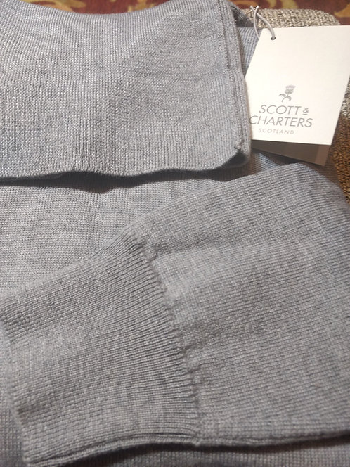 Scott & Charters Turtle Neck Sweater in Flannel Gray*