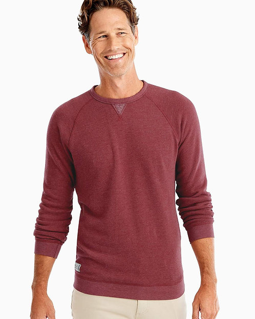 Johnnie-o Pamlico Sweatshirt In Crimson