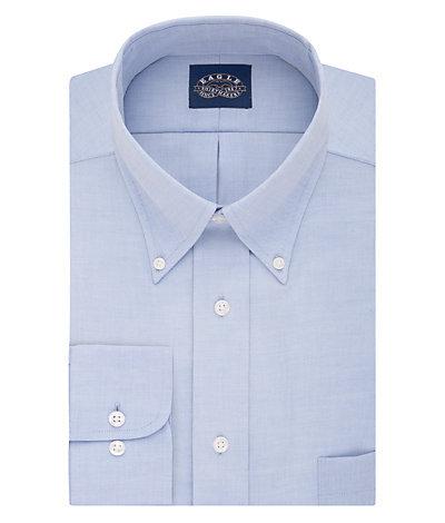 Eagle Regular Fit Non Iron Oxford Solid Stretch Buttondown Collar*