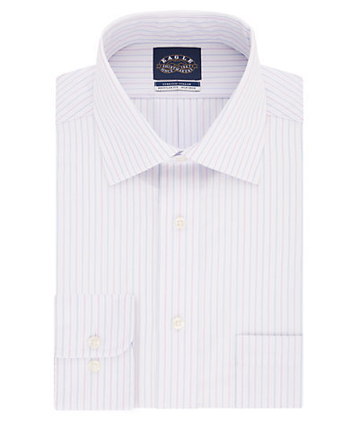 Eagle Regular Fit Non Iron Pinpoint Stripe Spread Collar
