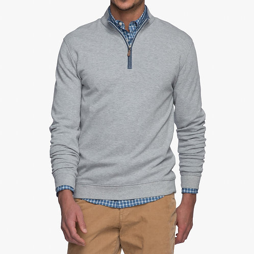 Johnnie-o Pullover in Lite Gray