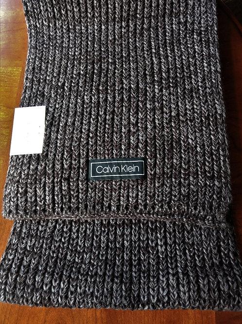 Calvin Klein woven Charcoal scarf