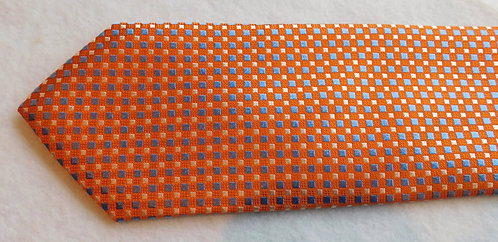 Orange Ground Woven Silk Check