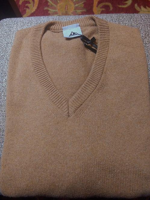 V-Neck Sweater in Tan