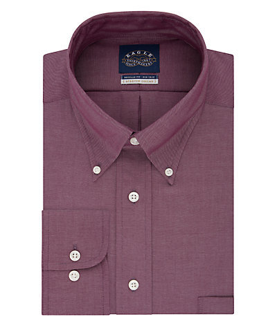 Eagle Regular Fit Non Iron Oxford Solid Stretch Buttondown Collar*