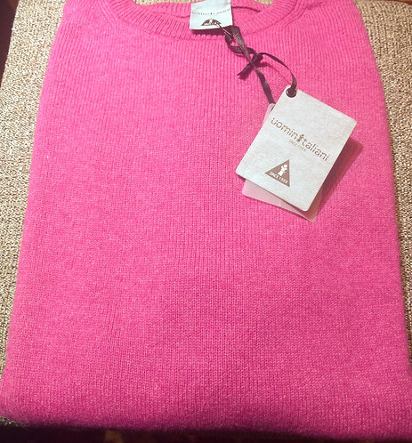Crew Neck Sweater in Pink