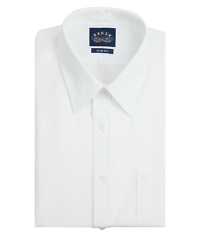 Eagle Slim Fit Non Iron Pinpoint Solid Point Collar
