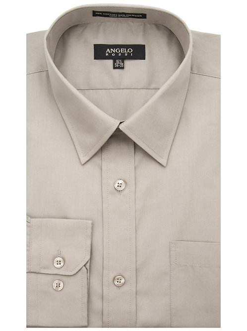 Angelo Rossi Dress Shirt-Tan