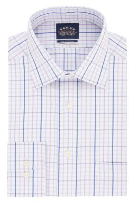 Eagle Regular Fit Non Iron Pinpoint Check Stretch Spread Collar