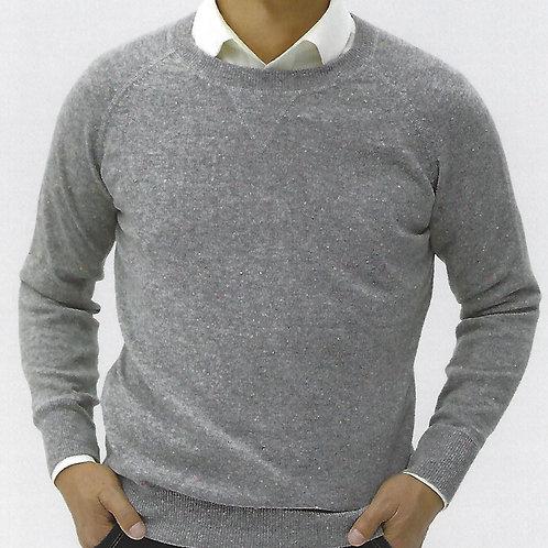 100% Mercerized Merino Wool  Reglan Shoulder Sweatshirt