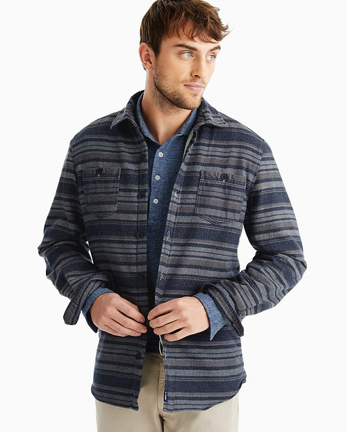 Worth Sherpa Lined Shirt Jacket in Twilight