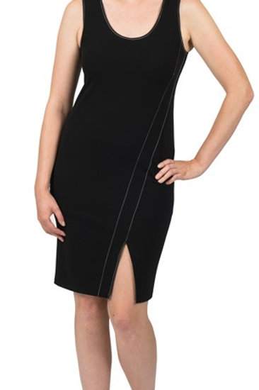 Black split front dress only 5633