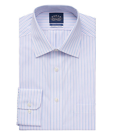Eagle Regular Fit Non Iron Pinpoint Stripe Stretch Spread Collar
