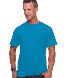 UNISEX 50/50 HEATHER JERSEY TEE-Turquoise