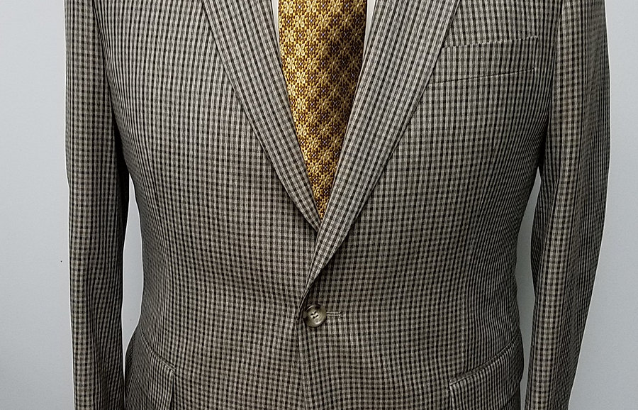 Tan Check Sport Coat