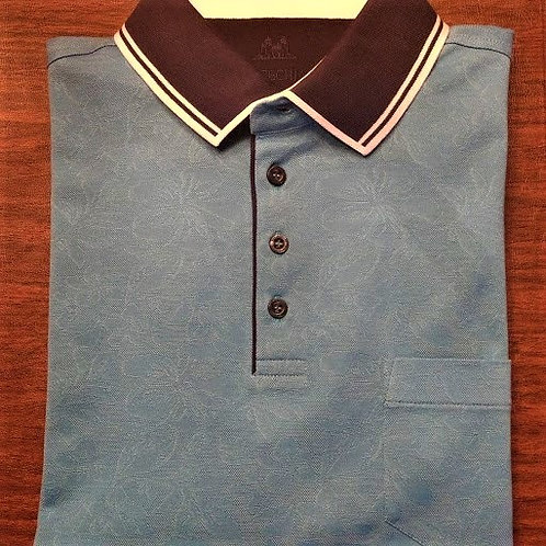 Teal Patterned Polo*