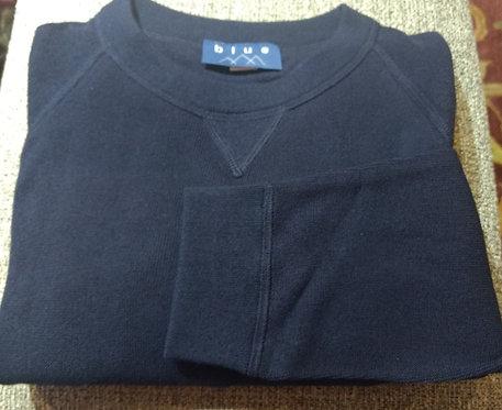 Navy Crew-Neck Pima Cotton  Sweater from Blue*