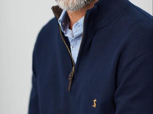 Hillside Funnel Neck 1/4 Zip Sweater^