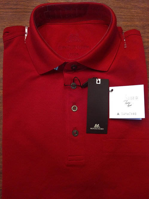 Long Sleeve Red  Signature Polo