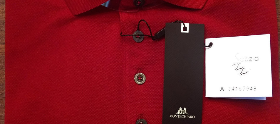 Long Sleeve Red  Signature Polo*