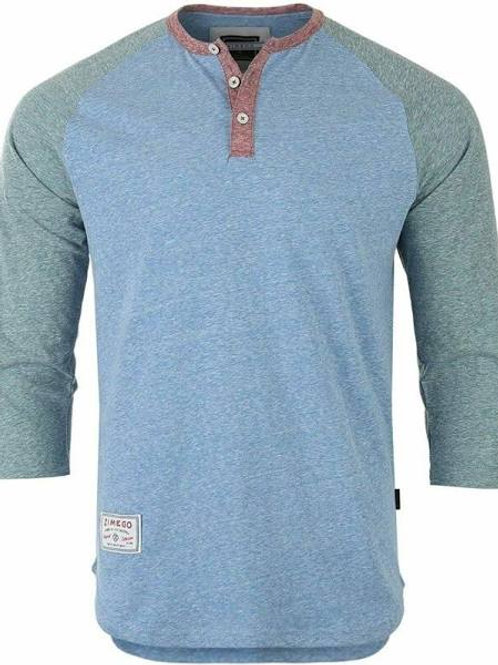 "Men's Casual Baseball Athletic Fashion 3/4"" sleeve  Henley Shirt"