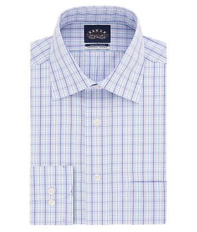 Eagle Tall Fit Non Iron Pinpoint Check Spread Collar