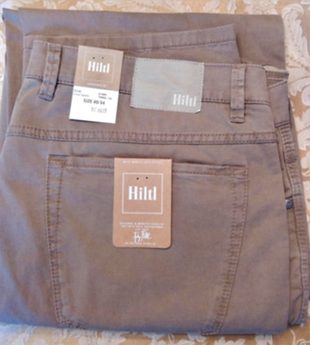 HILTL Light Weight stretch 5 Pocket pant in Khaki