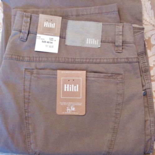 HILTL Light Weight stretch 5 Pocket pant in Khaki