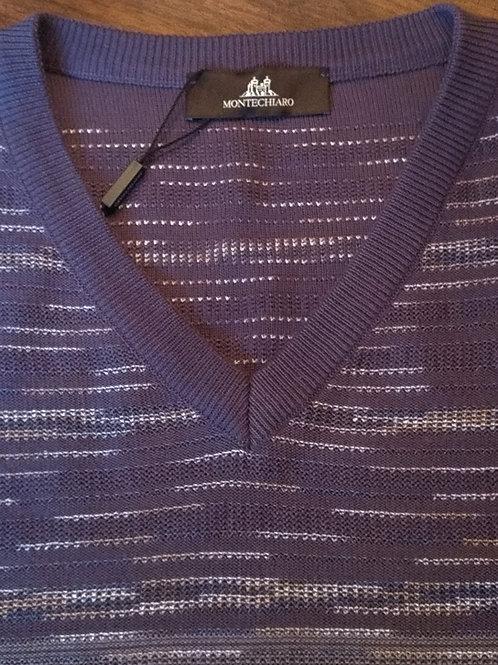 Blue river cascade V-neck Sweater*