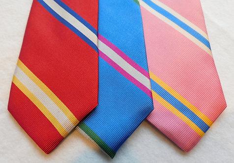 Ground Woven Silk Multi Color Stripe