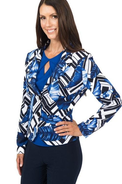 Blue black abstract  Jacket 5656