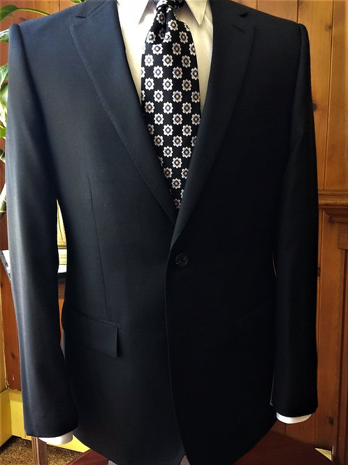 Executive Level 2 Suit Luxury Business Suit (Black)