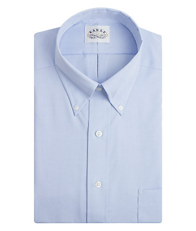 Eagle Big Fit Non Iron Pinpoint Solid Stretch Buttondown Collar