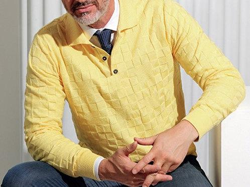 Textured Yellow Polo*