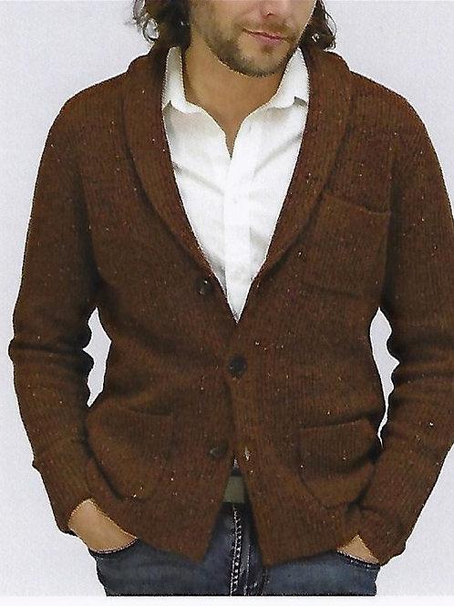 100% Cashmere Ribbed Heavy Shawl Jacket