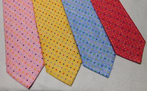 Italian Linen Bellinzona Privileged Multi-Colored Dot