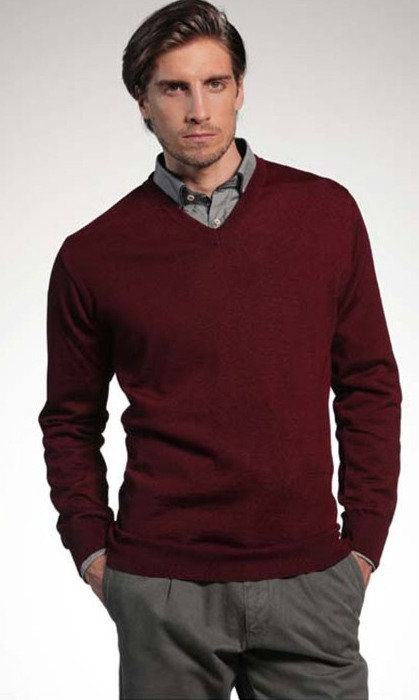 Merino Wool Long Sleeve V Neck Multiple Colors Available