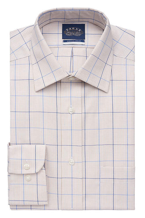 Eagle Big Fit Non Iron Pinpoint Pattern Spread Collar*